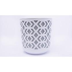 Plant Pots Aztek White+Grey