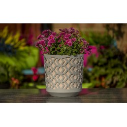 Plant Pots Aztek Grey+Powder Pink