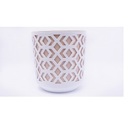 Plant Pots Aztek White+Powder Pink