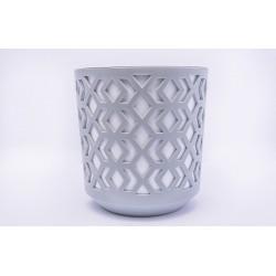 Plant Pots Aztek Grey+White