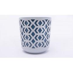 Plant Pots Aztek Grey+Navy Blue