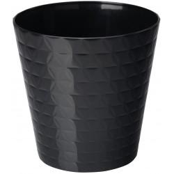 Plant Pots Diamond Black