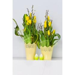 Flower Pots Crown -Yellow