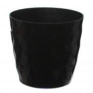 Black Crystal Flower Pot