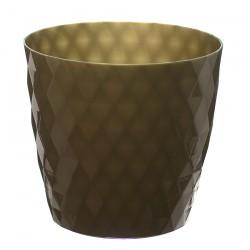 Gold Crystal Flower Pot