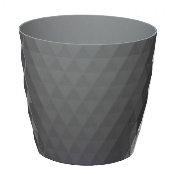 Grey Crystal Flower Pot