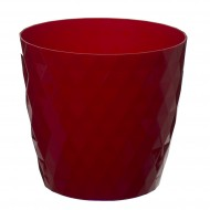 Red Crystal Flower Pot