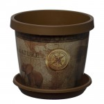 Chocolate Map Keramo Flower Pot