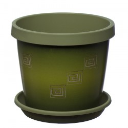 Olive Greek Keramo Flower Pot
