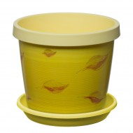 Yellow Leaves Keramo Flower Pot
