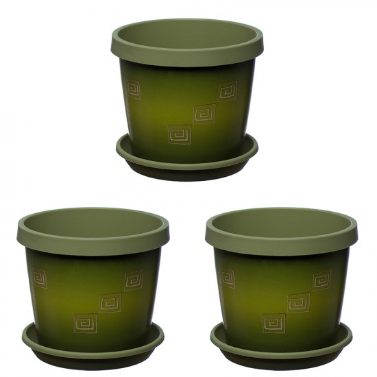 Set of 3 Olive Tree Keramo Flower Pot