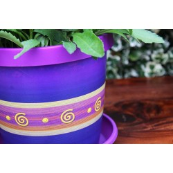 Violet Keramo Flower Pot