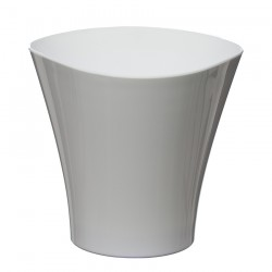 Flower Pots Wave Small -White