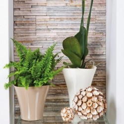 Flower Pots Wave Small -Beige