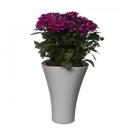 Flower Pots Wave Long-White
