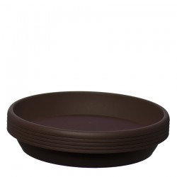 Flower Pots Saucers Dark Brown RODOS