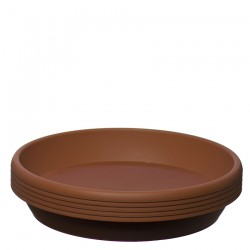 Flower Pots Saucers Terracotta Brown RODOS