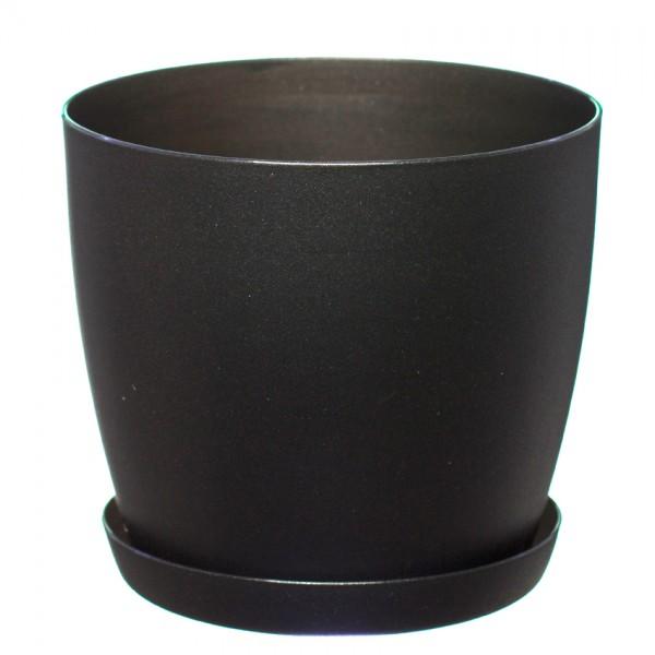 Black Aga Mat Flower Pot