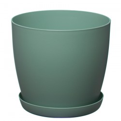 Green Pastel Aga Mat Flower Pot with Saucer Tray