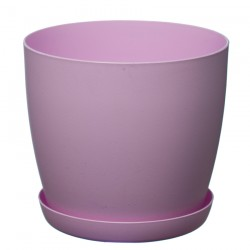 Pink Pastel Aga Mat Flower Pot with Saucer Tray