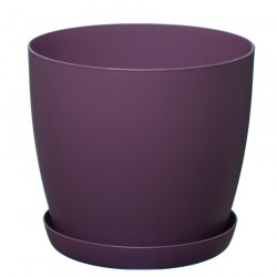 Violet Pastel Aga Mat Flower Pot with Saucer Tray