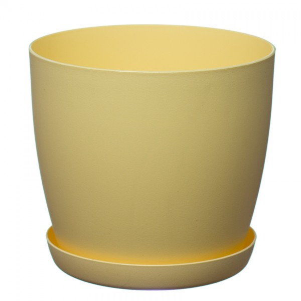 Yellow Aga Mat Flower Pot