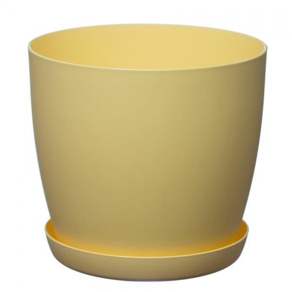 Yellow Aga Mat Flower Pot