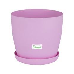 Pink Pastel Aga Mat Flower Pot with Saucer Tray