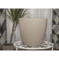 Mika Plant Pots Grey+Beige