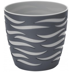Sahara Duo Plant Pot Anthracite+Steel