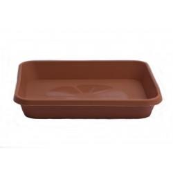 Plant Pot Saucer Square Rodos Light Brown