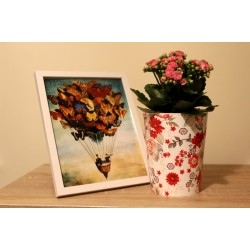 Plant Pots Red Rose 15.5 cm