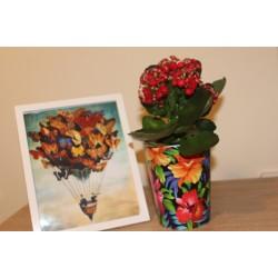 Plant Pots Exotic Flowers 15.5 cm