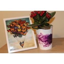 Plant Pots Smoked Rose 15.5 cm
