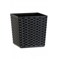 Rattan Black Flower Pots