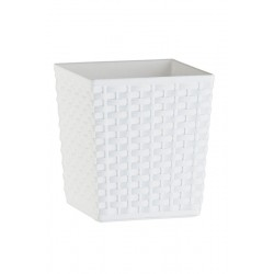 Rattan White Flower Pots