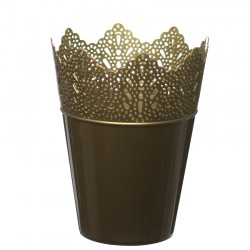 Flower Pots Crown -Gold