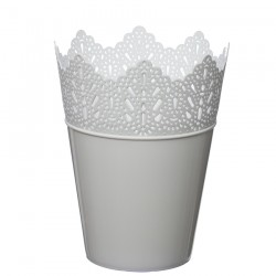 Flower Pots Crown -White