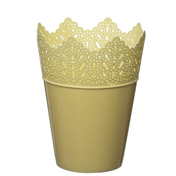Flower Pots Crown Yellow Pastel
