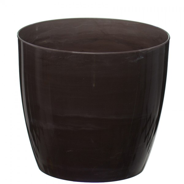 Brown Marble Flower Pot