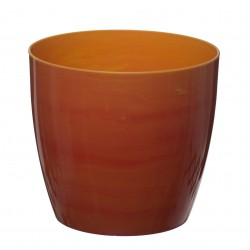 Orange- Yellow Marble Flower Pot