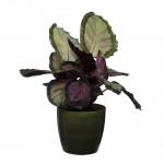 Dark Green Marble Flower Pot