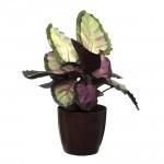 Burgundy Marble Flower Pot