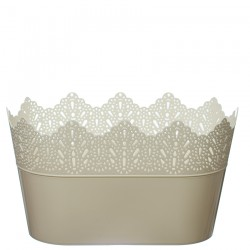 Flower Pots Oval CROWN-Ecru