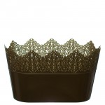 Flower Pots Oval CROWN-Gold