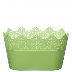 Flower Pots Oval CROWN-Green