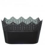 Flower Pots Oval CROWN-Silver