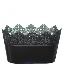 Flower Pots Oval CROWN-Silver