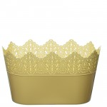 Flower Pots Oval CROWN-Yellow