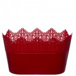 Flower Pots Oval CROWN-Red